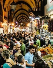 Spice Bazaar is the most famous market in Turkey. It is the first mall of the world. There are a lot of souvenirs in Spice Bazaar.
