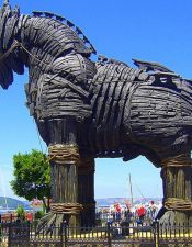 You can visit the real trojan horse on the Troy tours from Istanbul.