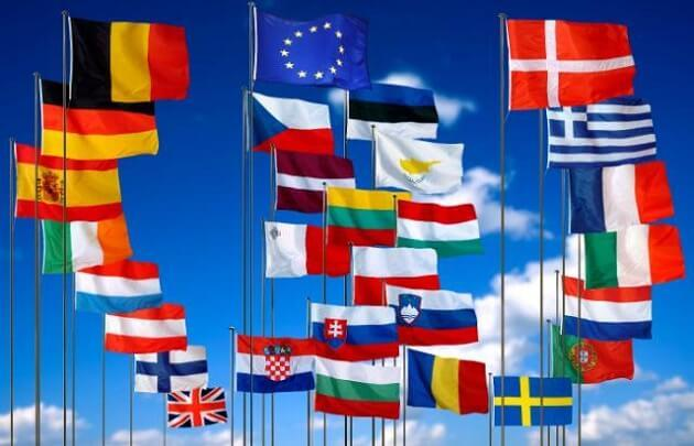 Member's flags of European Union